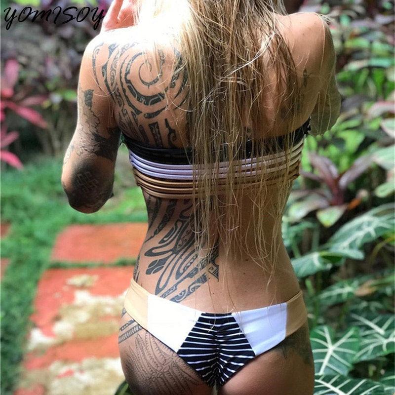 New Bikinis 2018 Women Sexy Swimwear Swimsuit Bathing Suit Women Off Shoulder Swimsuit Bandage Bikini Set Beach Wear Biquini 2017 women sexy crochet lacing bikinis set swimsuit beach wear spring tunic victoria swimwear