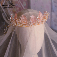 High Grade Vintage Hollow-out Gold Leaf Bridal Hairband Headpiece Wedding Headband Veil Bridal Tiara Hair Accessories Jewelry jonnafe new design gold leaf tiara bridal headband handmade pearl hair jewelry wedding accessories vintage women headpiece