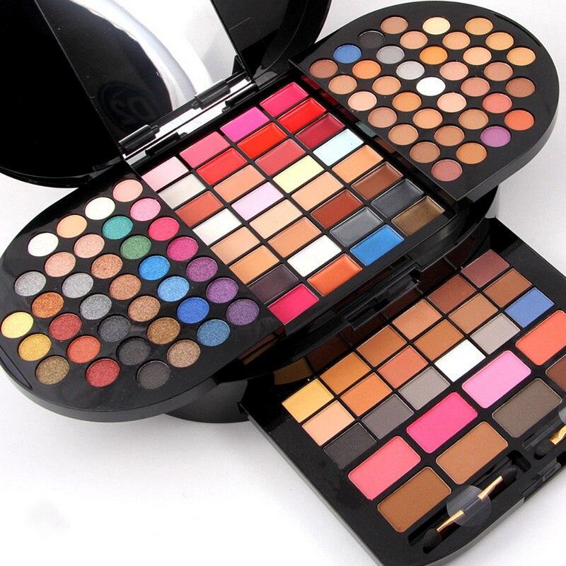 цена на Professional 130 Colors Pigments Eyeshadow Palette Makeup Glitter Shimmer Metallic Matte Eye Shadow Waterproof Smoky Cosmetics