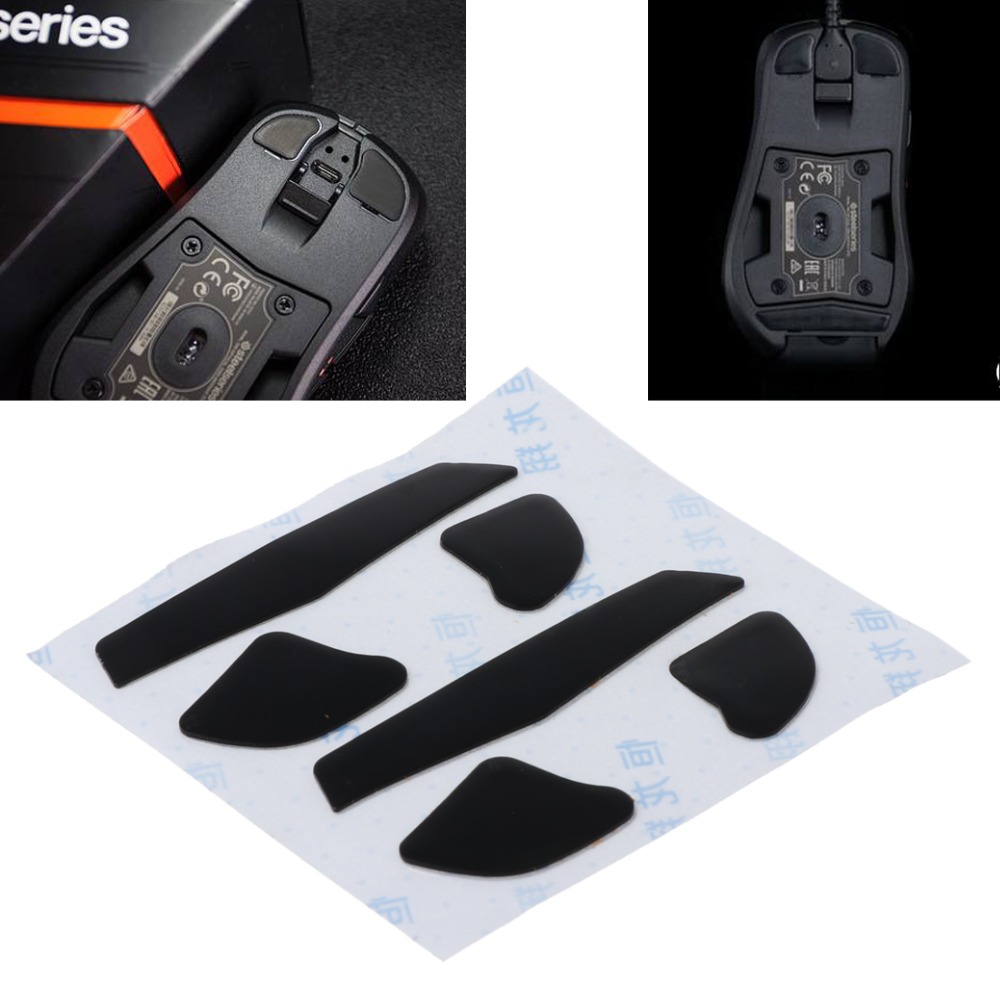 2 Sets 0.6mm Replacement Mouse Feet Mouse Skates For Steelseries RIVAL 700