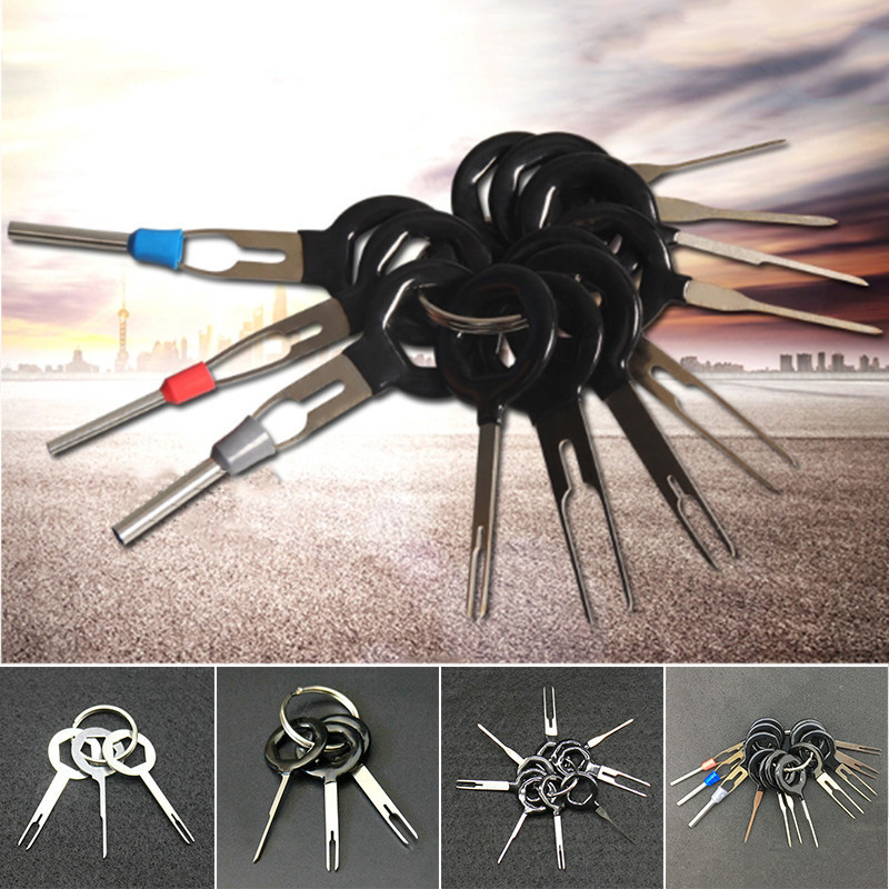 11 PCS Car Plug Terminal Taking out Tool Terminal Needle Withdrawing Device Wire Harness Needle Withdrawing Tool