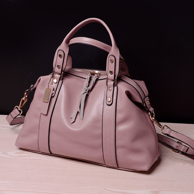 Women Leather Handbags European and American Style Brand Rivet Shoulder Bag For Women Messenger Bags Casual Tote Bag Hobos Bags