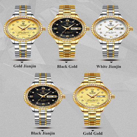 Tevise Fashion Black Quartz Watch Women Stainless Steel Watchband Auto Date Ladies Casual Wrist Watches Gift for Female Clock Lahore