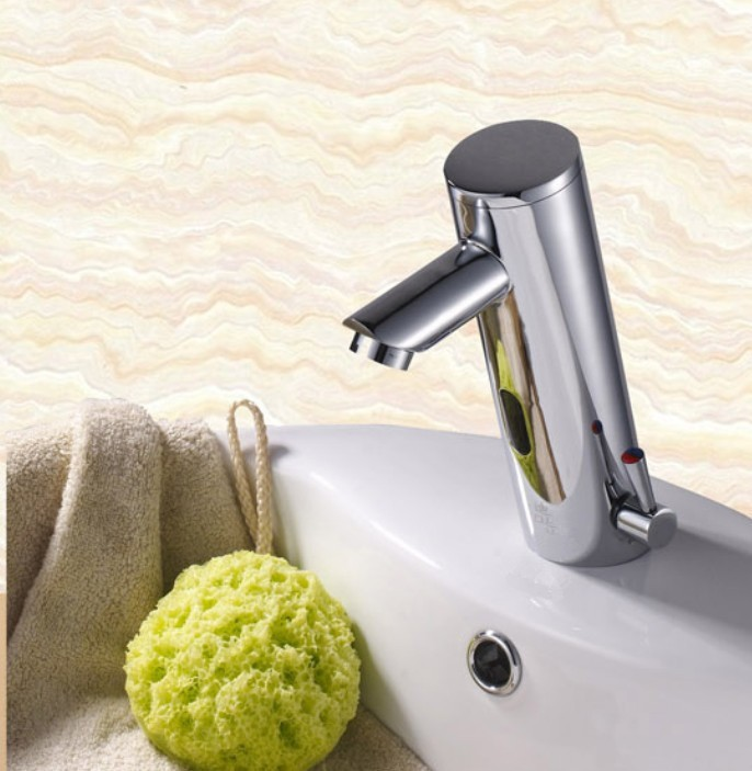 Free shipping New hot and cold Solid Brass Bathroom Basin Faucet Automatic Sensor Faucet Mixer Tap Sink Water AF005 free shipping new discount countertop bathroom automatic sensor faucet for hotel home water saving tap zr6130