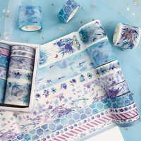Cinta de Washi de conjunto de 10 Uds Cinta Adhesiva pegatinas Scrapbooking lavado Washitape Cinta Adhesiva Decorativa Ruban de foto de bosque Sakura Decoración