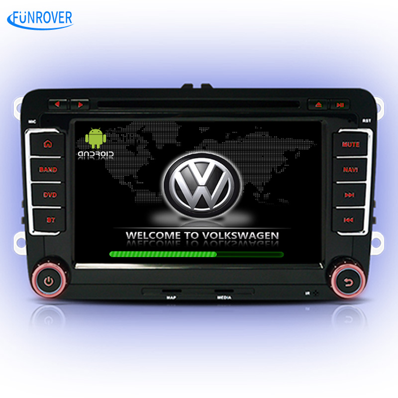 FREE SHIPPING 2016 Newest 2 Din 100% Pure Android5.1 For vw Car Dvd Player Gps Navigation Stereo Video Multimedia Capacitive hot