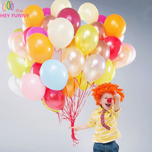 "100pcs 10"" 1.2g Round Shape Latex Pearl Balloons"
