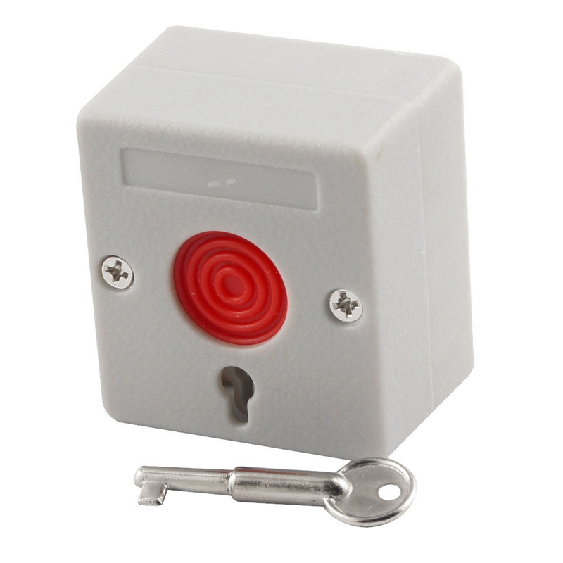 5Pcs Usage Emergency Panic Button Fire Alarm Switch Security Alarm Key Reset for Home free shipping plastic break glass emergency exit escape life saving switch button fire alarm home safely security red