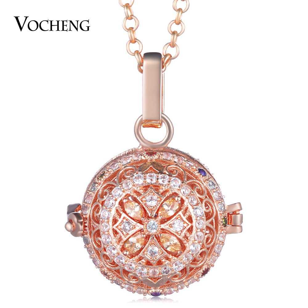 3 цвета медальон с ангелом ожерелье кубический цирконий камень ангел ожерелье с шариком цепь из нержавеющей стали VA-397