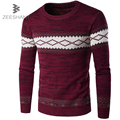 ZEESHANT Men Christmas Sweater XL O-neck Pullover Brand Casual Slim Jumpers Clothing Knitwear Roupas Masculina Vetement Homme