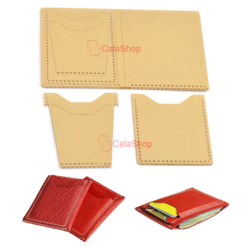 1 Pcs / Lot Acrylic Wallet Leather Template Model For Home ...