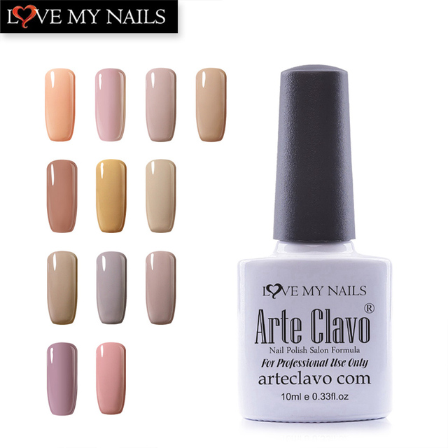Arte Clavo 10ml Nude Color Nail Polish Lacquer Nail Gel Sets Nude ...