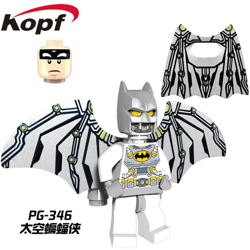 Single Sale Vacation Batman With Wings Bruce Wayne Robin Scarecrow Building Blocks Super Heroes Bricks Childen Gift Toys PG346 single sale pirate suit batman bruce wayne classic tv batcave super heroes minifigures model building blocks kids toys gifts