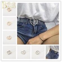 BOAKO Clear belt Women Transparent Belt Female Pin Buckle Wide Invisible Punk Waist Belt For Women pasek damski Waistband K5