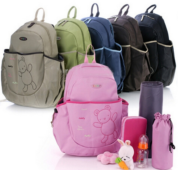 ФОТО Free shipping 3pc/set Colorland Cute Bear Baby Diaper Bags,Baby Backpack Maternity Bag Nappy Bags Baby Nappy Products for Mom