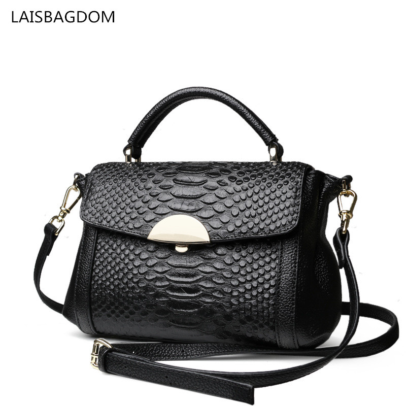 2018 Fashion Genuine Leather Handbags Alligator Women Messenger Bag Real Cowhide Leather Shoulder Crossbody Bag недорго, оригинальная цена