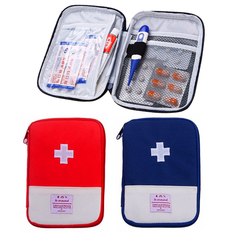 2 Colors Portable First Aid Kit For Home Outdoor Travel Camping Emergency Medical Bag Small Carrying Medical Treatment Packs(China)