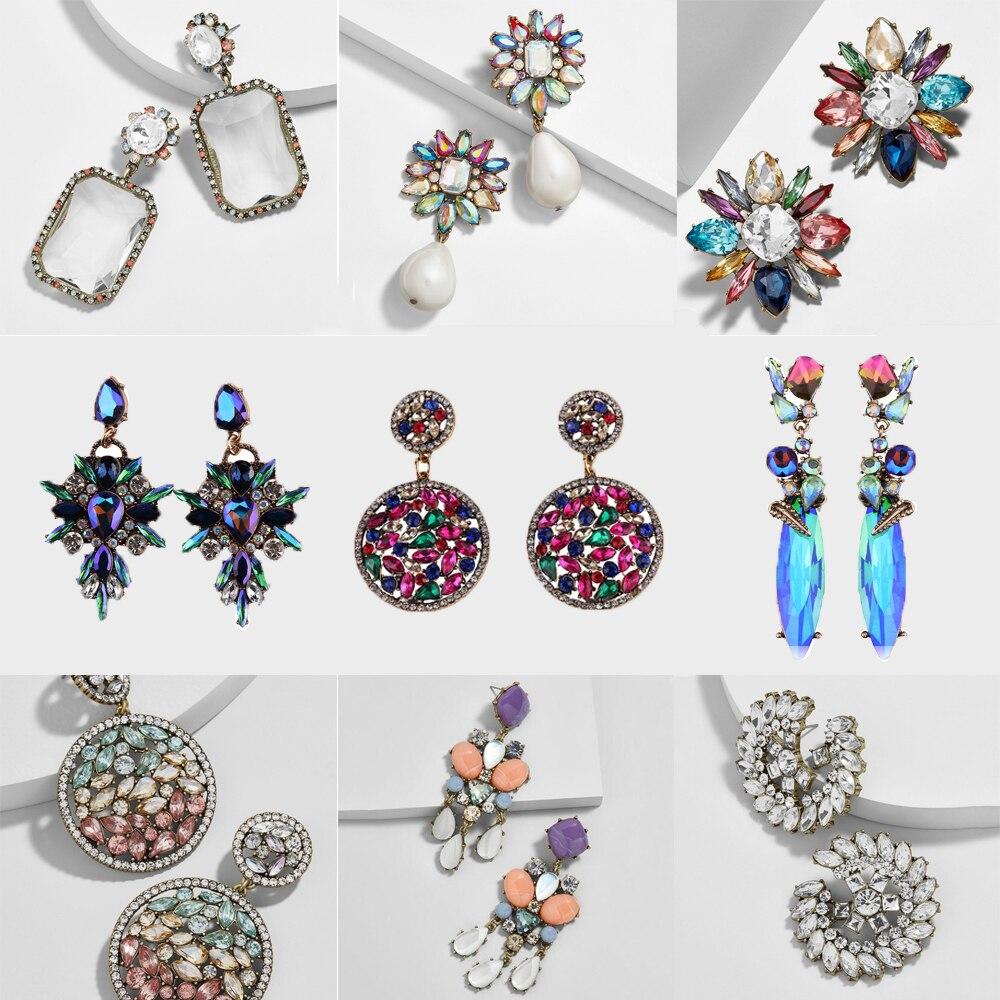 Bedste Dame Ny Farverig Blomst Big Brand Design Luksus Starburst - Mode smykker