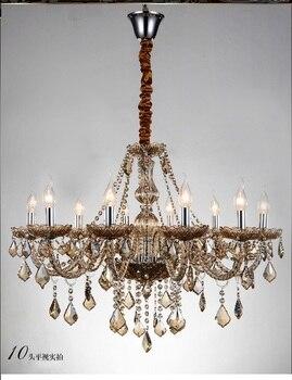Роскошный 6/810/15/18 огни подвесная люстра большой современный кулон с украшением в виде кристаллов свет k9 хрустальный потолочный светильник л...