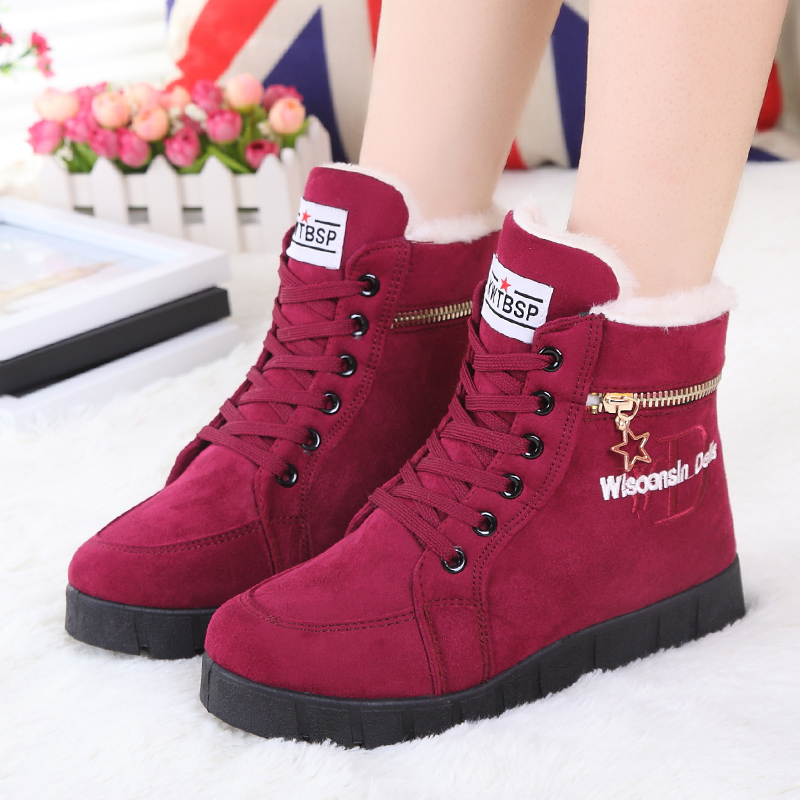 Awesome 2017 New Fashion Winter Shoes Women39s Winter Boots For Men Ladies Snow