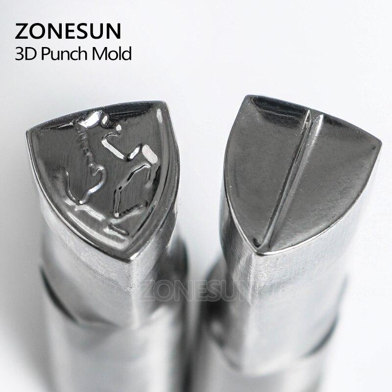 ZONESUN horse logo TDP0/1.5/3/5 Table Pill Press 3D Mold Candy Milk Punching Custom Logo punch die Machine Free shipping