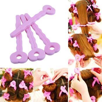 6Pcs/Set Soft Sponge Curl Sticks Sleeping Beauty Curls Bar DIY Styling Hair Rollers Tool for Women Hair Style Accessories&Props Чокер
