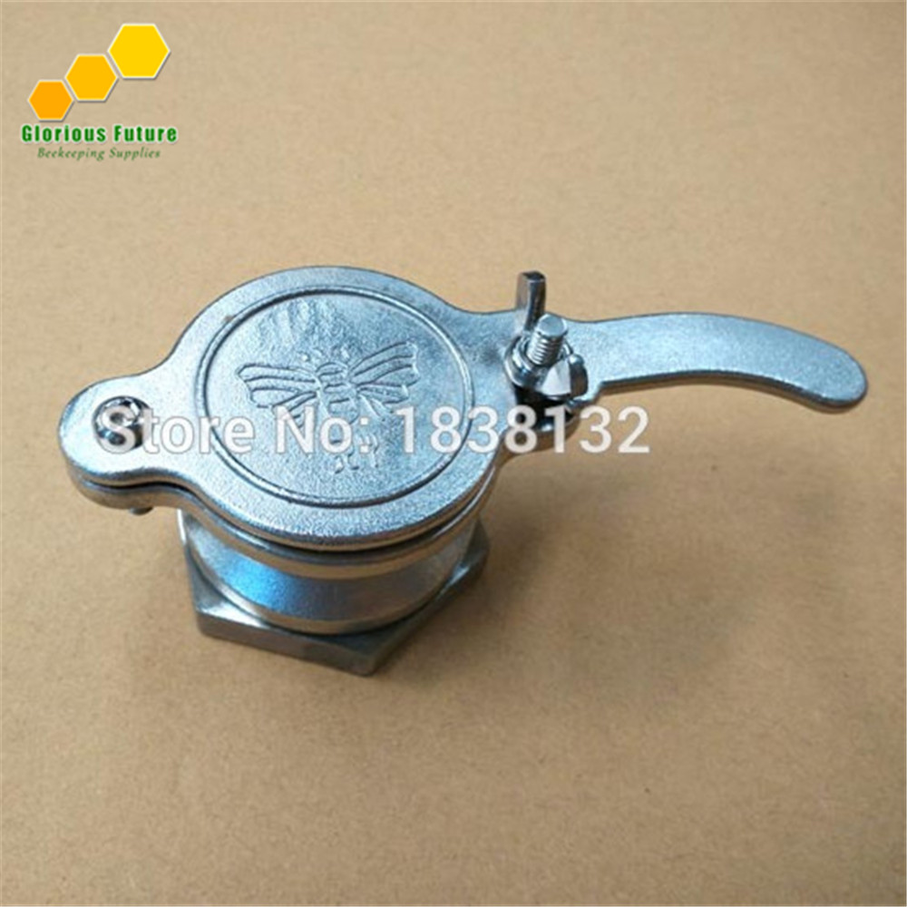 Stainless Steel Honey Tap Gate Valve Beekeeping Extractor Bottling Tool Silver