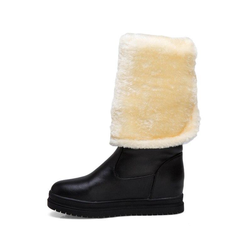 Mujer De Zapatos Invierno rosado Botas Ymechic Tamaño Largo Cálido blanco Las Caballero Negro Alta Hebilla Rodilla Felpa Plus Blanco Rosa Señoras La Equitación Negro Nieve xwvvqO8Yg