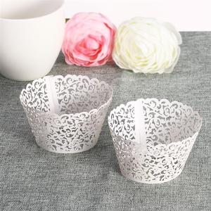 Image 5 - 50pcs Laser Cut Cupcake Wrappers Decor Wedding Birthday Party Baby Shower Wrap