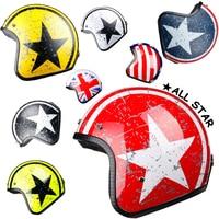 LDMET motorcycle helmet jet open face helmet Captain star cascos para moto vintage pilot cafe racer helm summer