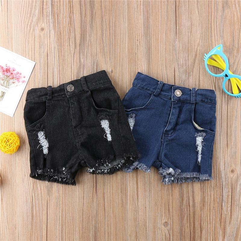 Summer Newborn Kids Children Baby Boy Girl Hole Jeans