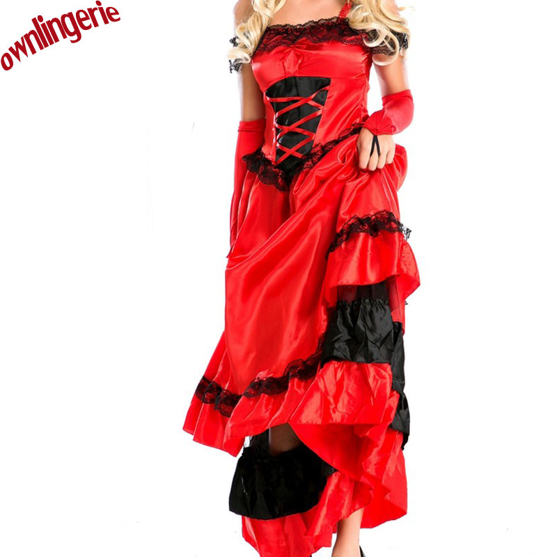 Halloween Queen Witch Cosplay Costume,french off shoulder also can dance costume w1194