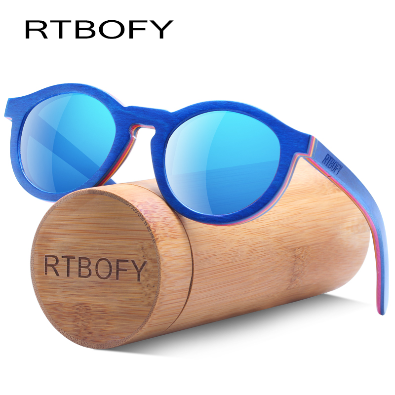 RTBOFY Polarized Wood Sunglasses for Children Bamboo Frame Eyeglasse Polarized Lenses Glasses Vintage Design Shades UV400 Protec железные дороги brio железная дорога с грузовым поездом