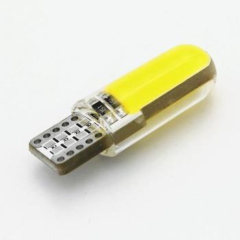 ANBLUB silikonowa LED wewnętrzna lampka samochodowa 12V T10 W5W klinowa boczna lampa parkingowa światło obrysowe COB LED Auto żarówka do czytania lampka sygnalizacyjna tanie i dobre opinie CN (pochodzenie) Klirens lights 300lm T10 (W5W 194) 12 v Uniwersalny AM009 1 5W Red White Blue Pink Yellow