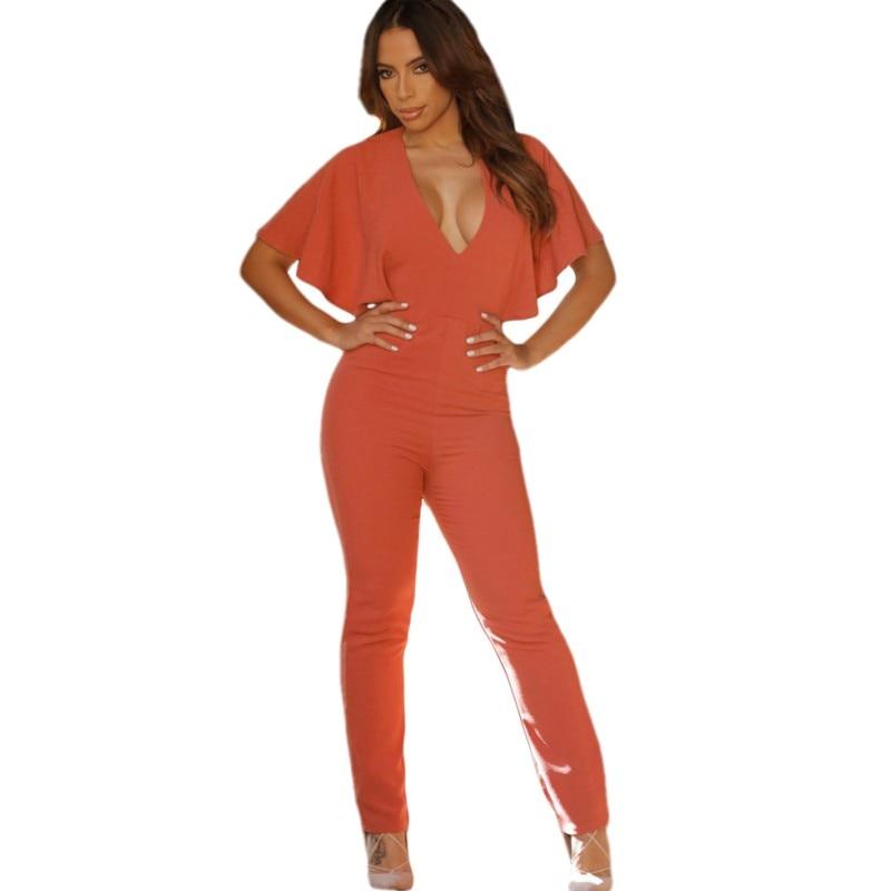 Aliexpress.com : Buy Hot clubwear 2016 new sexy orange jumpsuit ...