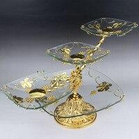 Fruit compote Home Furnishing alloy glass Home Furnishing European shelf bar KTV shuiguolan living room coffee table