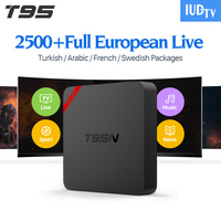 T95N Android Tv Box Arabic Europe IPTV Receiver One Year IPTV Package 1700 French Turkish Netherlands