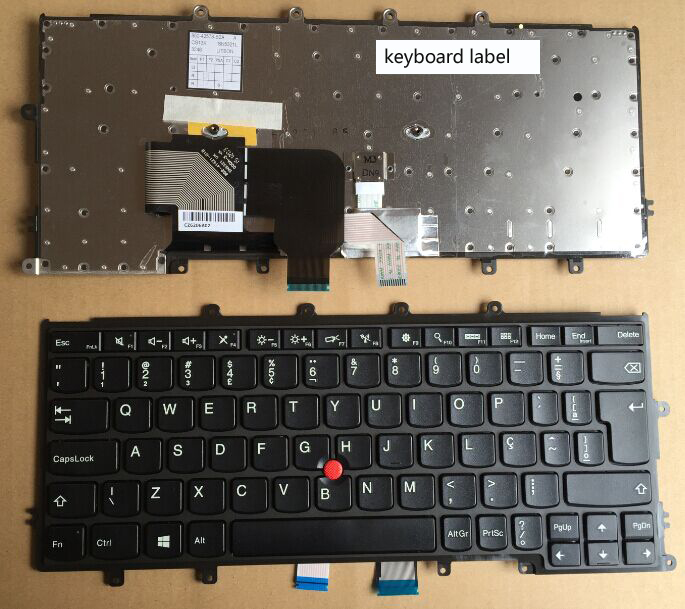 New notebook laptop keyboard for LENOVO Thinkpad X230S X240 X250 FRU:04Y0942 BR/Brazil  layout new original backlight keyboard for lenovo thinkpad yoga x260 laptop fru 00ur665