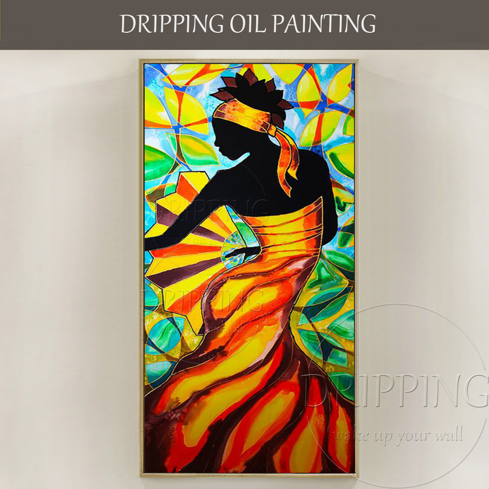 Amazing Beauty Artist Pure Hand Painted Abstract African