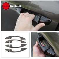 Epoxy Carbon Fiber Car Styling Headlight Wash Frame Sticker Rearview Mirror Anti Scratch Cover for Touareg 11 17 Exterior Access