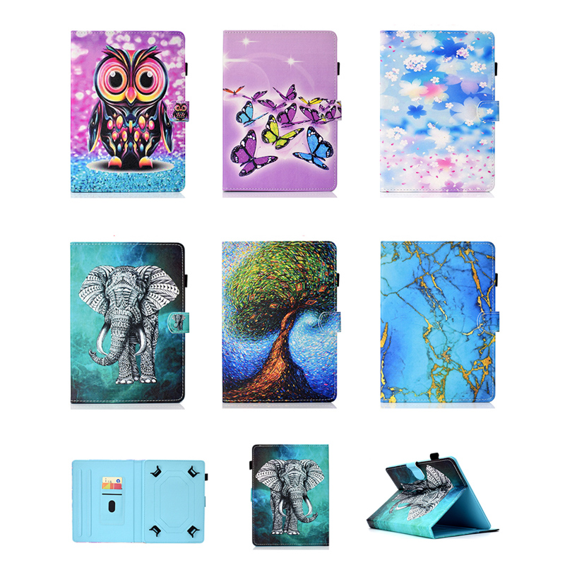 7 inch 8 inch 10 inch Flip Leather Case Painted Universal Protective Case Tablet For Suppl