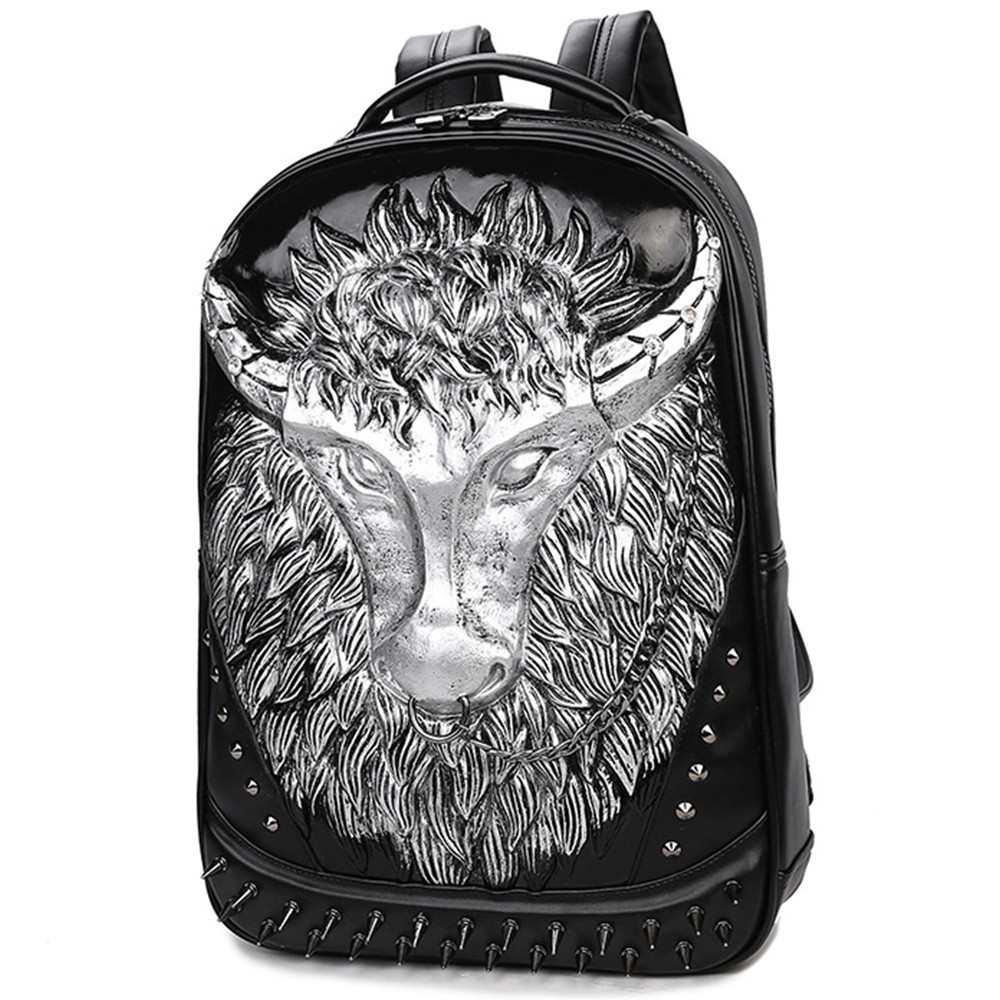 New Backpacks for men Bag 3D Black Leather Men's Shoulder Bags Fashion Male Business Casual Boy Vintage Men Backpack School Bag male bag vintage cow leather school bags for teenagers travel laptop bag casual shoulder bags men backpacksreal leather backpack