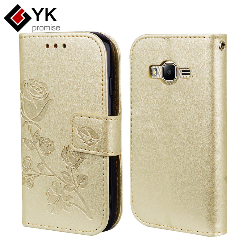 Luxury PU Leather Wallet Flip Case for Samsung JI Mini Prime For Coque Samsung Galaxy JI Mini Prime Cover Protective Phone Bags