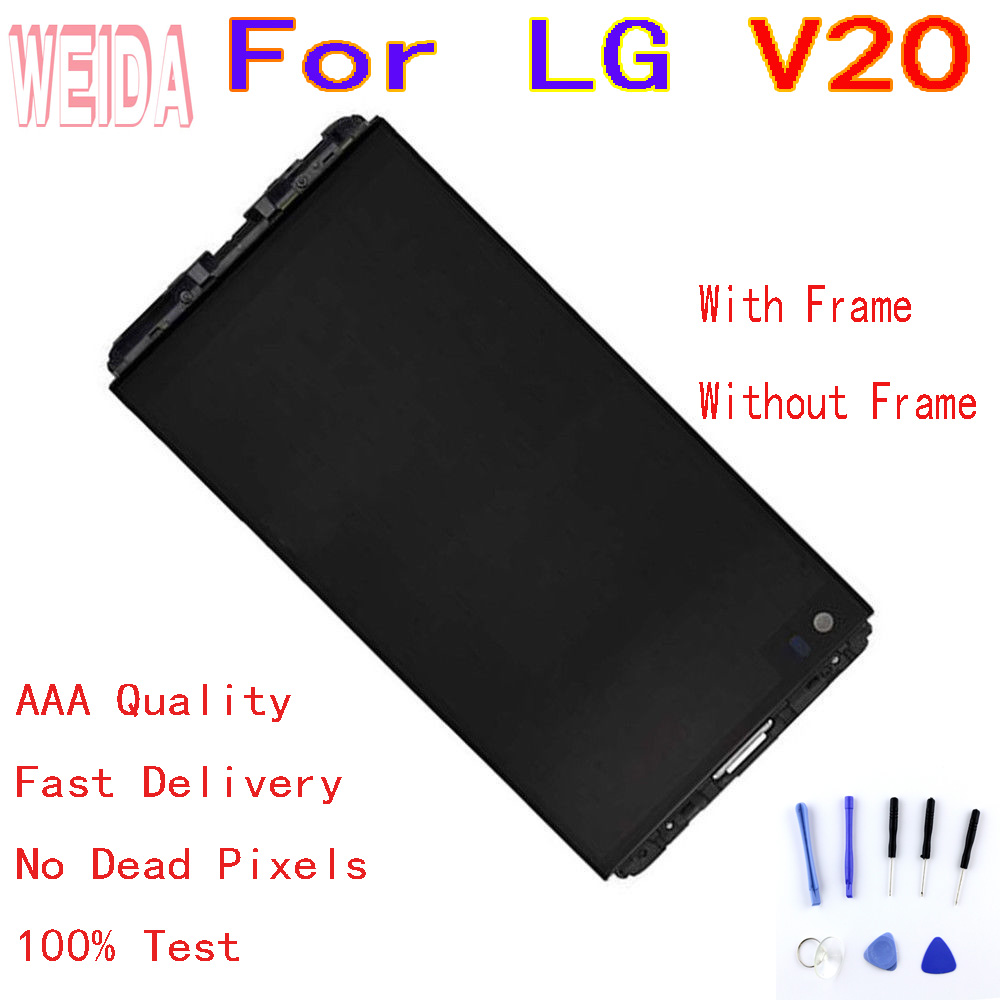 For LG V20 H990 LS997 US996 LCD Display Touch Screen Digitizer Assembly Frame with free tool