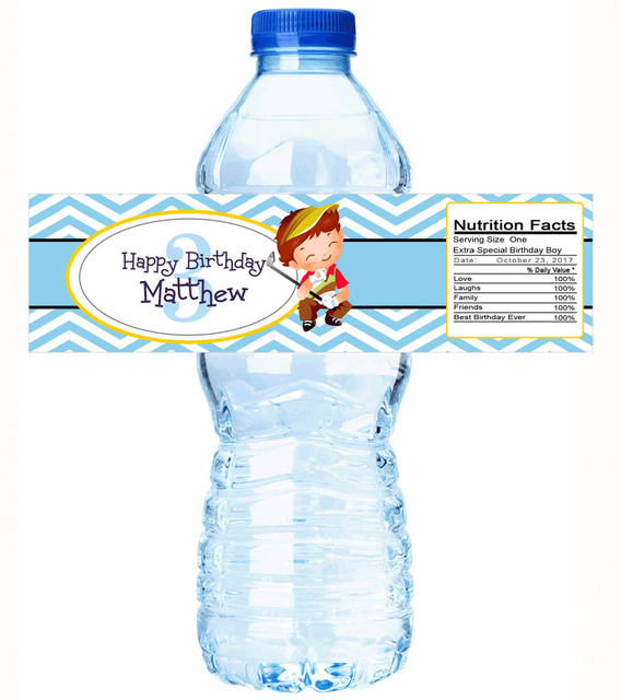 Custom Baby Shower Personalized Water Bottle Labels Birthday