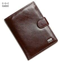 Männer Geldbörsen Braun Kaffee Weichen Rindsleder Echte echtem Leder Brieftasche Geld Tasche Große Kapazität Männer Geldbörsen Brieftasche Pass Tasche