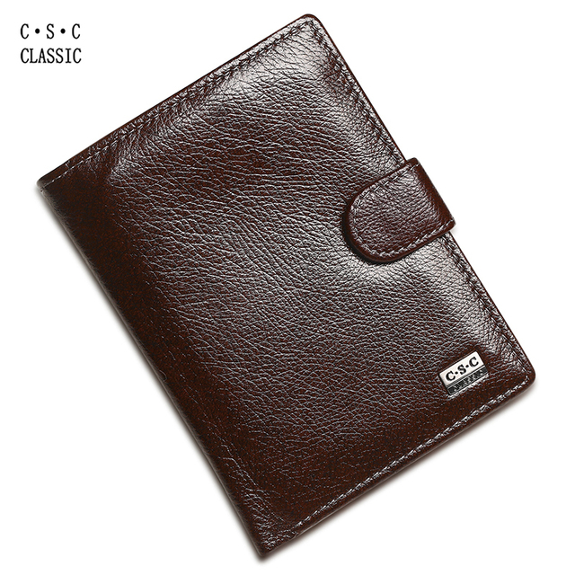 Men Wallets Brown Coffee Soft Cowhide Real Genuine Leather Wallet Money Pocket Large Capacity Men Purses Wallet Passport Bag