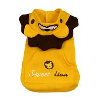 Pet dog yellow lion turned clothes High quality pet dog hooded sweater Dog breathable clothes A20