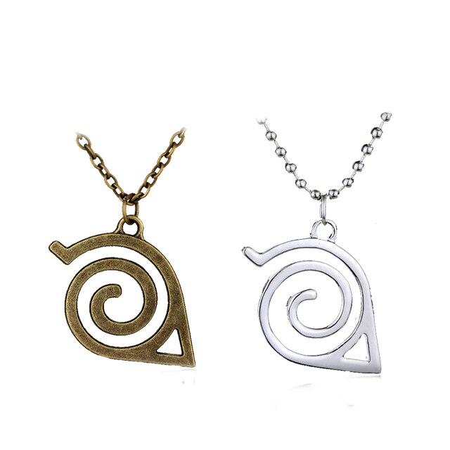 Japan Hot Anime Naruto Necklaceleaf Symbol Naruto Village Logo