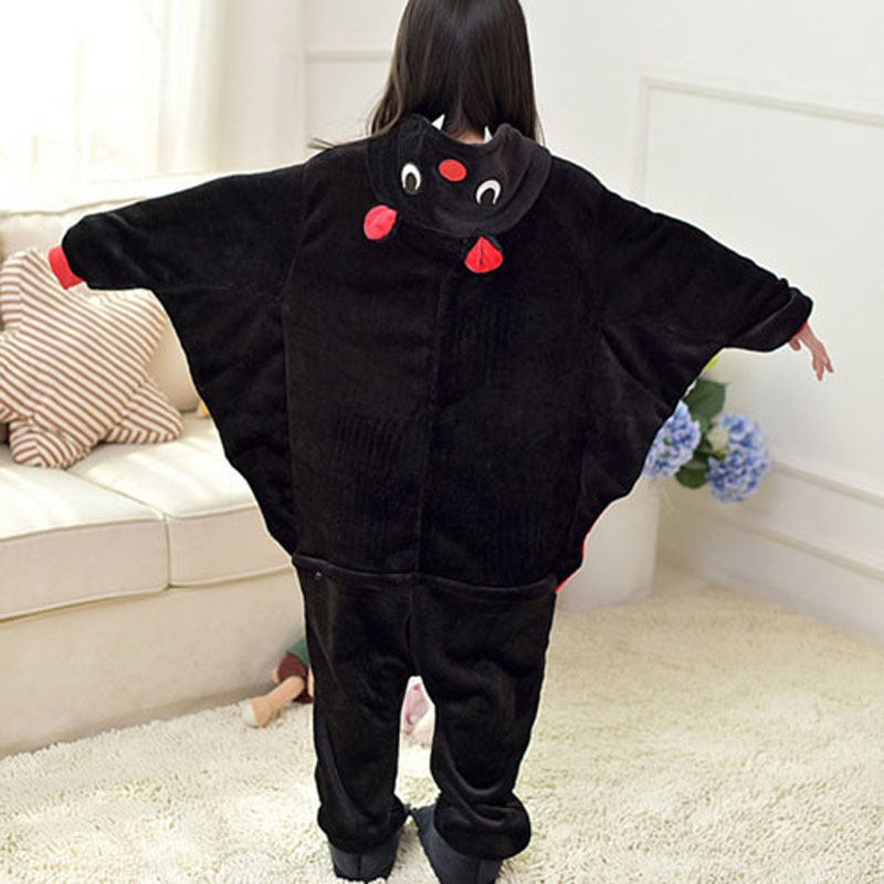 85-165cm Kids Animal Pajamas Onesie Children Bat Cosplay Kigurumi Baby Boys Girls Blanket Sleeper Big Teenager Pyjamas Sleepwear